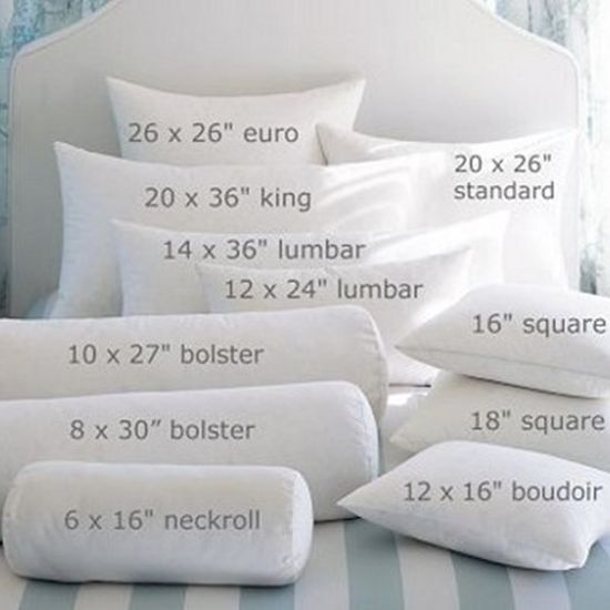 Pillow size and shape 101