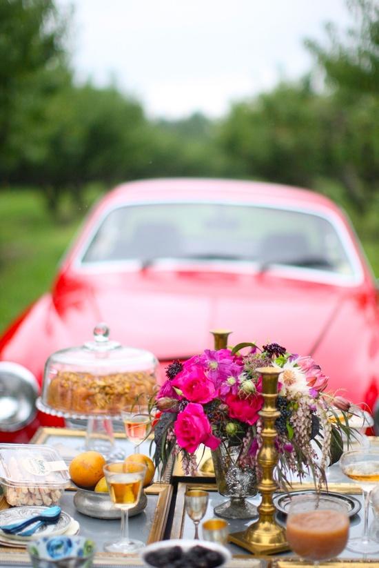 elaborate car picnic