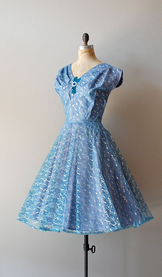 1950s Bright Ice tulle dress