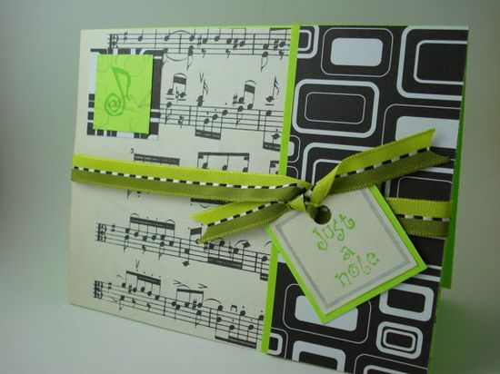Handmade music Card
