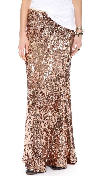 always yes to a sequin skirt