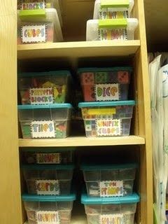 Organized manipulatives!