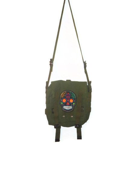 Upcycled Military Heavy Duty Durable Satchel by AccursedDelights, $35.00