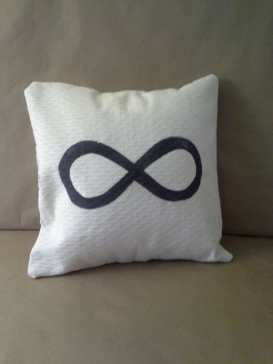 Infinite Infinity Pillow Sham/Cover Creamy White by SewDogSoYou, $10.00 #infinite #bridal #pillow #hanpainted