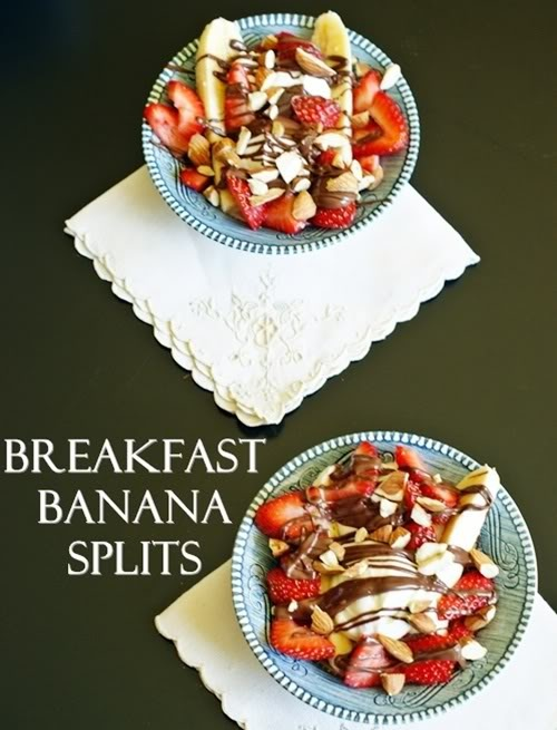 Banana Splits - for breakfast!