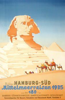 #Egypt #Sphinx #Vintage #Travel #Poster