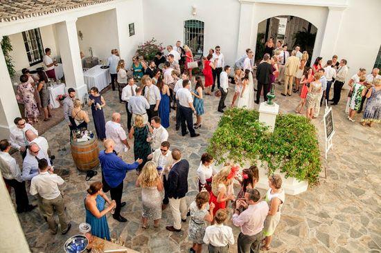 Spanish courtyard wedding reception