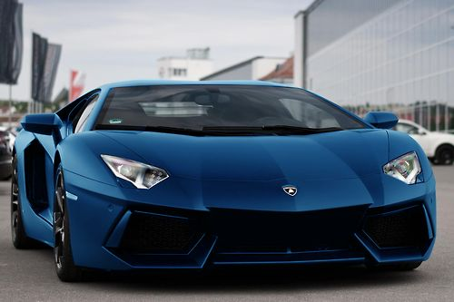car      matte blue Aventador  color change by me  via Sven