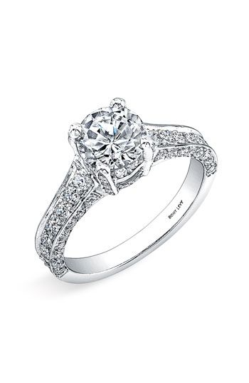 Bony Levy 'Bridal' Pavé Diamond Semi Mount Ring (Nordstrom Exclusive)
