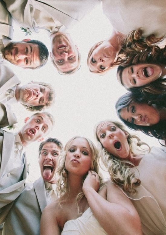 Wedding photo. Great for different angle of bridal party