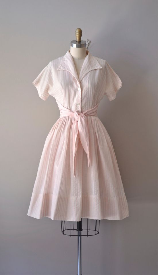 vintage 1950s dress / cotton 50s dress / Badinerie dress