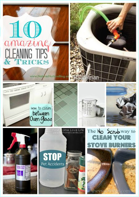 10 AMAZING Cleaning Tips and Tricks that will make your life a lot easier.  Spring cleaning here I come!