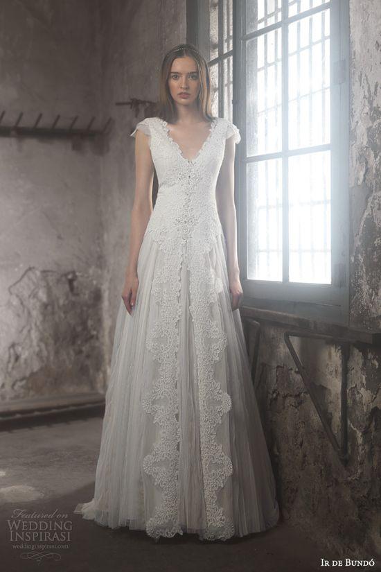 ir de bundo 2014 gala wedding dress cap sleeves, very romantic xx