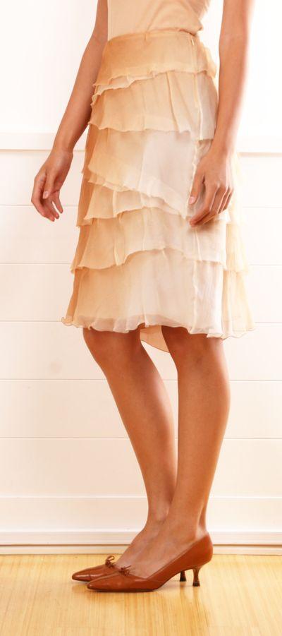 Prada Tiered Chiffon Skirt
