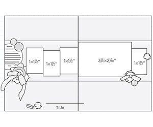 Scrapbook Page Sketch 244