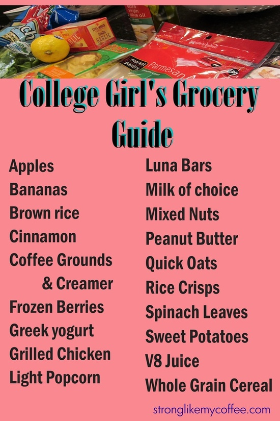 College Girls Grocery Guide