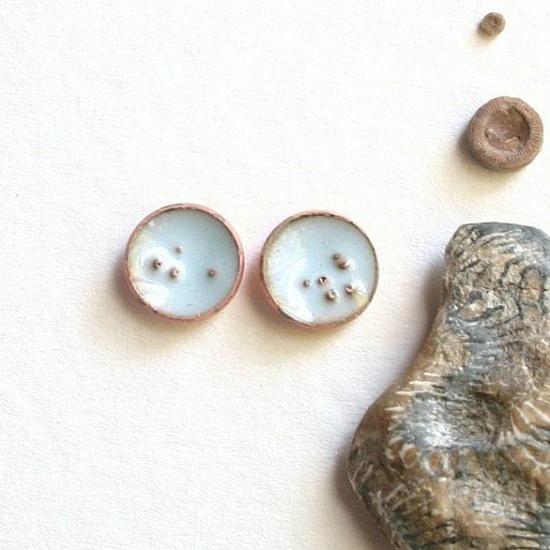 sweet little enamel earrings