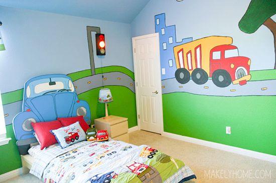 Boy's Room - Home Tour via MakelyHome.com