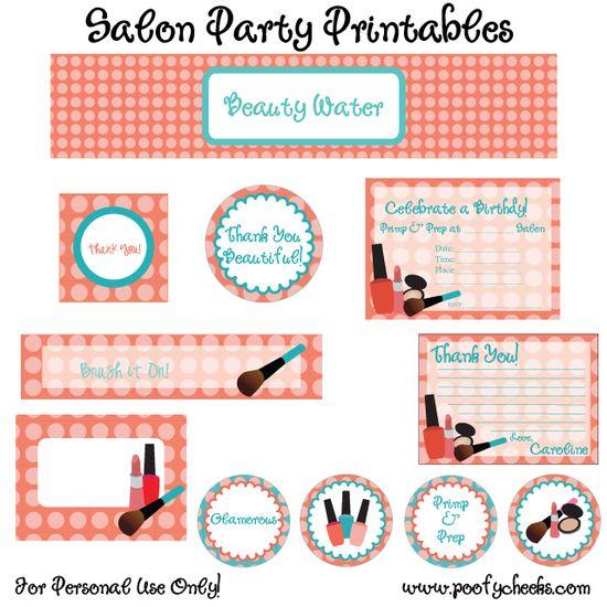 Free spa birthday party printables #spa #birthday #party #printables #free #nailpolish #girly