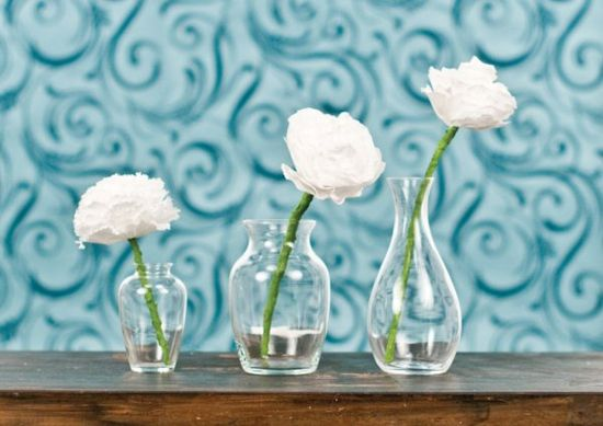 Coffee Filter Flowers - 15 Spring DIY Decorating Ideas