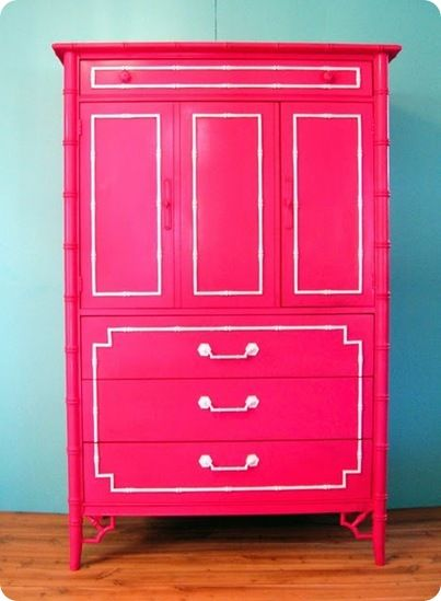 A pink armoire!