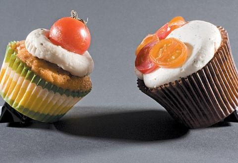 Savory cupcakes by Rachel from Cupcakes Take the Cake, via Flickr
