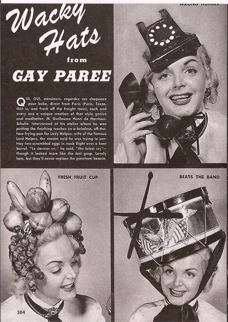 And you thought the craziest hats were at royal weddings! :D