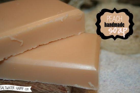 Peach Handmade Soap