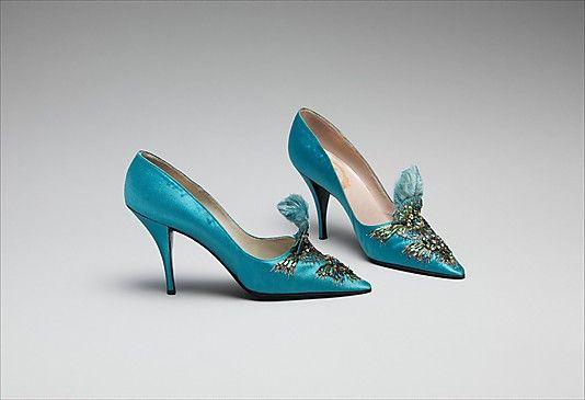 Evening shoes house of Dior 1957 Metropolitan Museum of Art