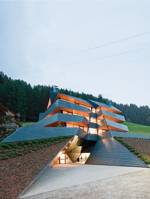 Angular copper clad apartment building in Sesto, Italy