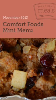 Comfort Foods Mini November 2013- Meal Planning made easy. #freezercooking #comfortfoods