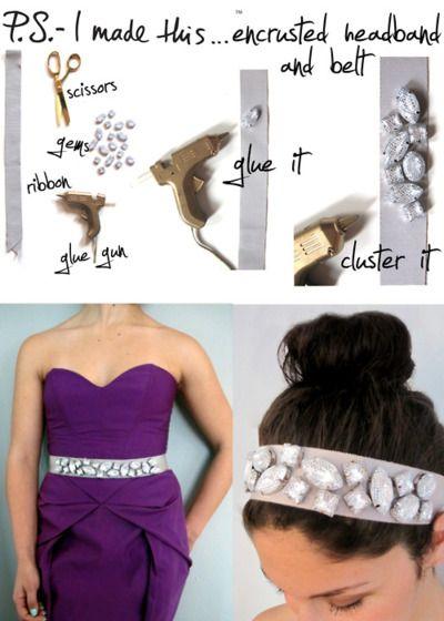 jeweled head band or belt