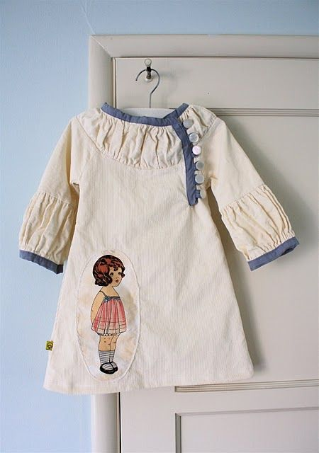 I love this pattern. I need a little girl to sew for.