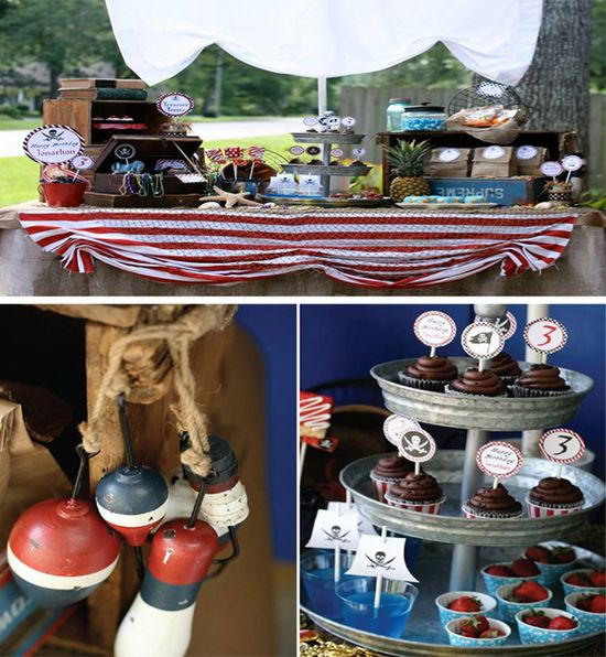 Pirate Third Birthday Party with Lots of Ideas via Kara's Party Ideas