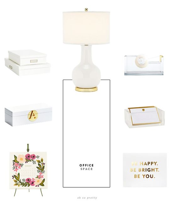 Oh So Pretty: Loving // White and Gold Office