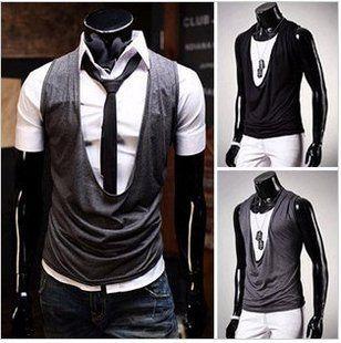 unique vest. mens fashion