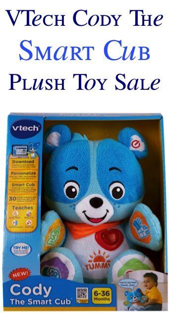 VTech Cody The Smart Cub Plush Toy Sale: $11.99! #toys