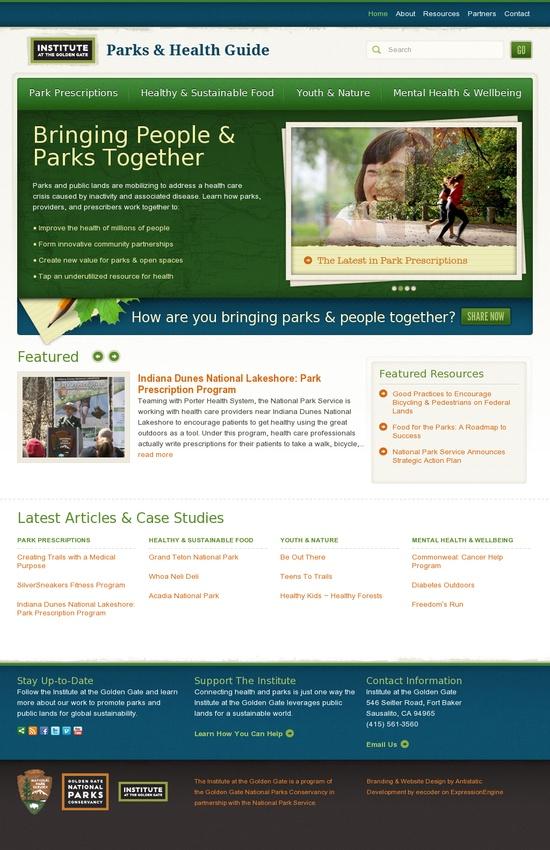 Parks Health Guide #website #design
