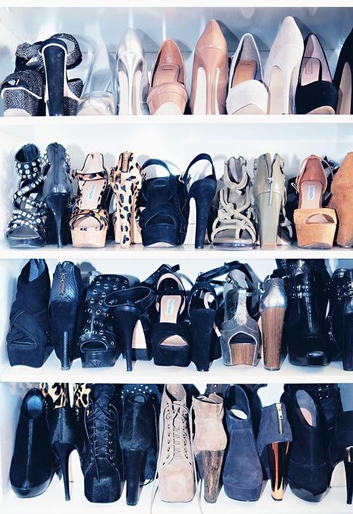 Steve Madden shoe closet