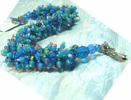 Wooly Worm Bracelet - Kat Barron Miller: Handmade jewelry from Des Moines.