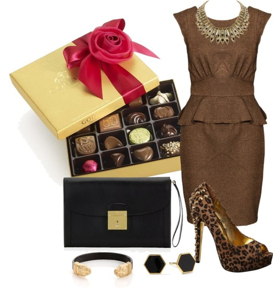 """Chocolate"" by imclaudia-1 ❤ liked on Polyvore"