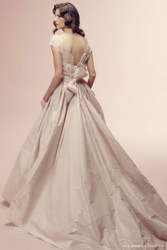 alessandra rinaudo 2014 rosanne color wedding dress train
