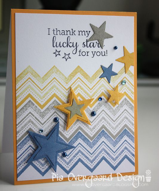 Love the colors and stars, can be used for a guys b-day too!