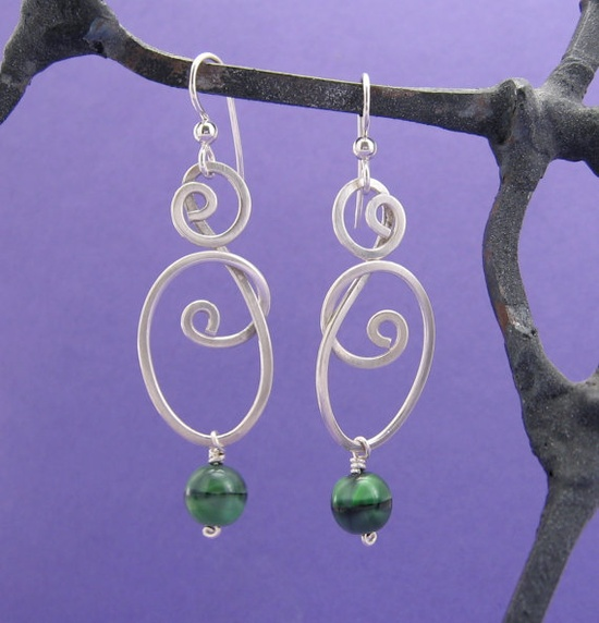 intertwined wirework earrings