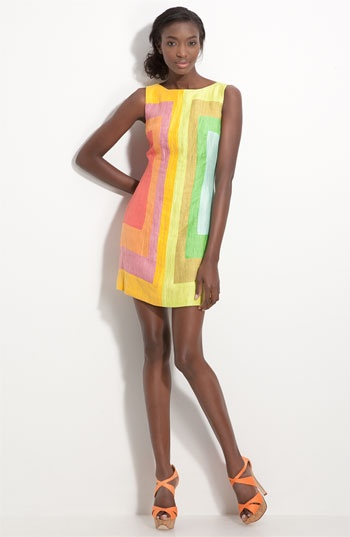 Tracy Reese Colorblock Shift Dress