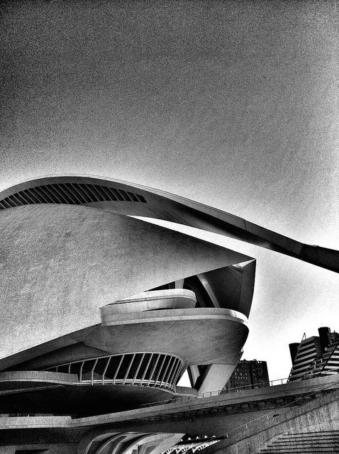 City of Arts And Sciences in Valencia. Palau de les Arts