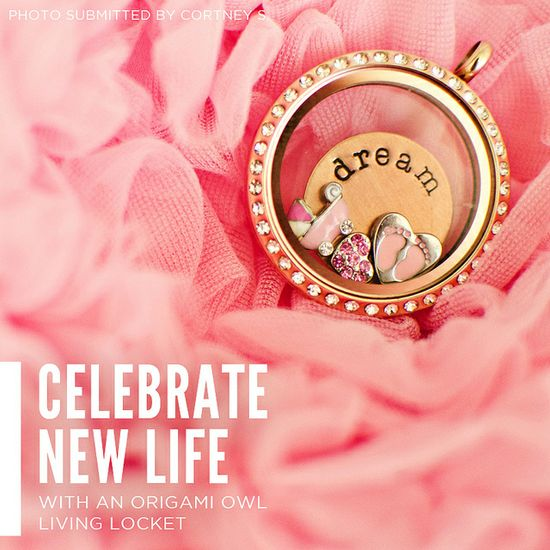 Celebrate new life with an Origami Owl creation like this one!