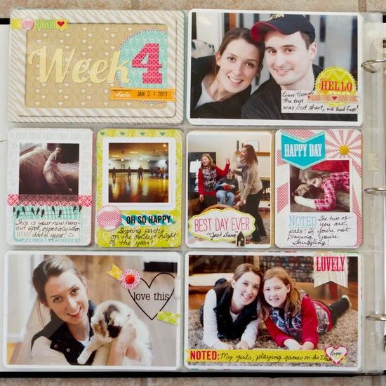 Project Life with Sweet Notes - Scrapbook.com