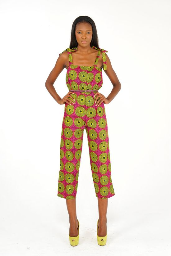 African Print Jumpsuit on Etsy, $45.00