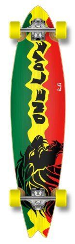 Special Pro Graphic FISHTAIL Complete Longboard skateboard w/ 70mm wheels, Rasta lion 2 by The Epic Sports. $90.99. Our handmade fishtail boards make you rolling different from other people!. Save 30% Off!